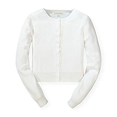 Hope & Henry Womens' White Cardigan by
