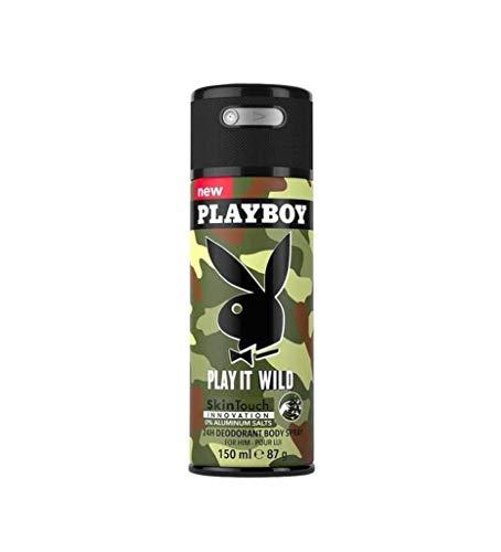 Playboy Play It Wild Male Deodorant Body Sp