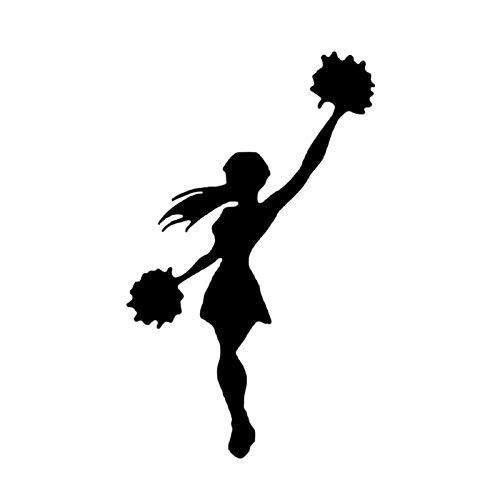 estéticas 9.6 * 15.7cm Baile Cheerleader Decoración Deportiva Pegatina de automóvil Accesorios Accesorios de Vinilo Extreme Movimiento C12-1518 (Color Name : Black)