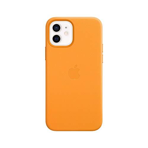 Apple Leder Hülle mit MagSafe (für iPhone 12   12 Pro) - California Poppy - 6.1 Zoll