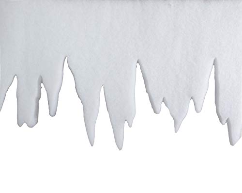 Riffelmacher 68560 Decoration Icicle Garland Icicle Decoration Garland Christmas and Crafts 1 Metre White