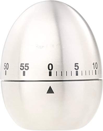 SKYROPNG Timer Küchenwecker: Kurzzeitmesser, Eieruhr aus Edelstahl, 60-Minuten-Timer und Signalton (Kurzzeituhr)