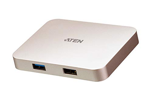 ATEN UK UH3235 USB-C 4K (3840 x 2160 @ 30 Hz) Ultra Mini Dock | USB 3.1 Gen 1 Type-A HDMI Multipot Eingang Ausgang für PC, Mac, iPad Pro, Android Smartphone, Nintendo Switch und USB-C Gaming Dock
