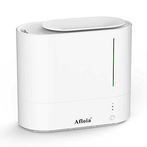 Afloia Cool Mist Air Humidifiers, Quiet Desk Ultrasonic Humidifiers for Baby, Home, Bedroom, Large Room with Auto Shut Off, 2200ML Easy to Clean Water Tank,Top Fill