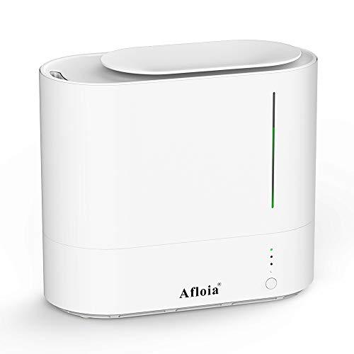 Afloia Luftbefeuchter 2L Top Fill Water, Feuchtesensor, Timer, Weiß