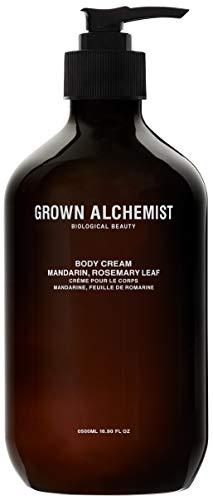 Grown Alchemist Body Cream - Mandarin & Rosemary Leaf - Made with Organic Ingredients (500ml / 16.9oz)