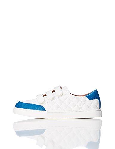 RED WAGON Sneaker Trapuntata con Velcrto Bambino, Bianco (White), 30.5 EU