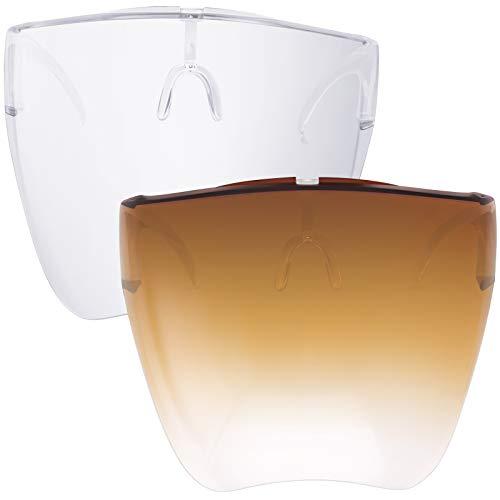KUGUAOK Fashion Goggle Sunglasses UV400 Anti Fog Lens Full Face Sun Visors Face Shield Eyewear Women Men