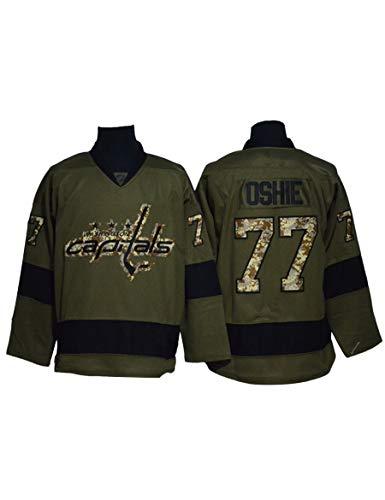Shjfl Eishockey-Spieltrikots für Herren Hockey Jerseys Alexander Ovechkin#8/T.J.Oshie#77 NHL Washington Capitals Tmungsaktiv Ultraleichte Langarm Sportbekleidung