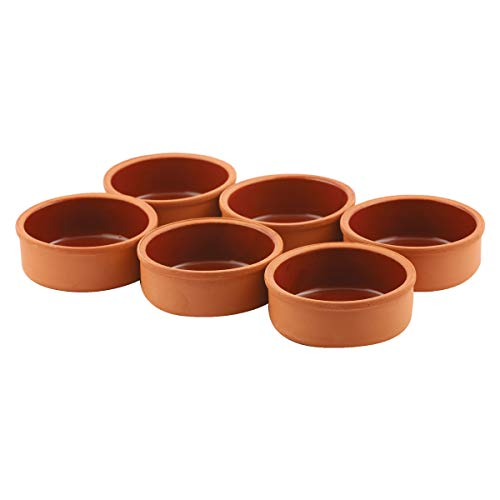 Clay Cooking Pots, 4.5' Terra Cotta, Clay Pots For Cooking - Rustic Clay Pan - Terra Cotta Hitit Dish – Turkish, Indian, Spanish, Mexican Cazuela Dishware/Cookware - Vintage Cooking Pot (6 Pack)