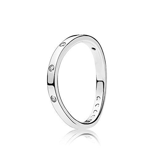Pandora Damen-Ringe 925 Sterlingsilber zirkonia '- Ringgröße 58 (18.5) 197113CZ-58