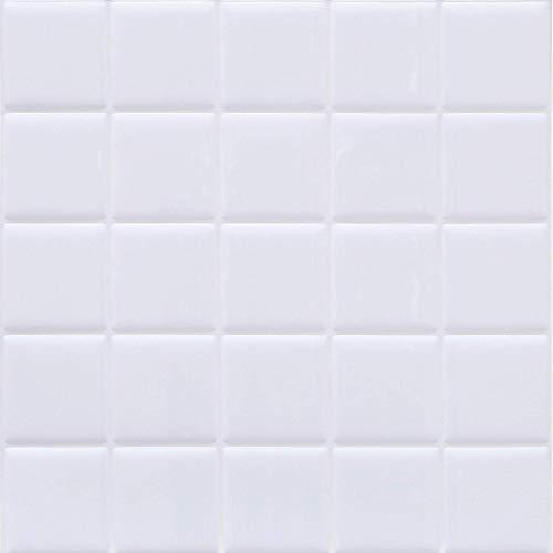 HyFanStr 立体 3D モザイクタイルシール【4枚セット】キッチン洗面所 ウォールステッカー 耐熱 防水 防汚 3D おしゃれ 剥がせる タイル 壁紙シール 25.5cm X 25.5cm