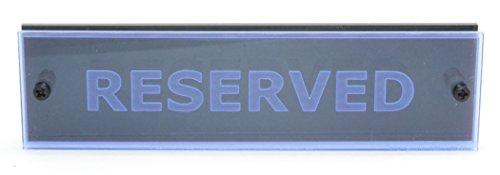 Restaurante Bar café Acrílico Transparente Reservado Senyal Mesa 150 mm x 40 mm - Fluorescente Azul