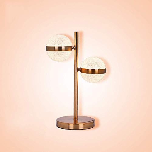 Lámpara de luz de Techo Creativa Simple Lámpara de Cristal esférica LED Lámpara Decorativa Lámpara de lámpara Cristal Dos Fuentes de luz (L30 W30 H44CM) Lámpara-2025L0Y8G