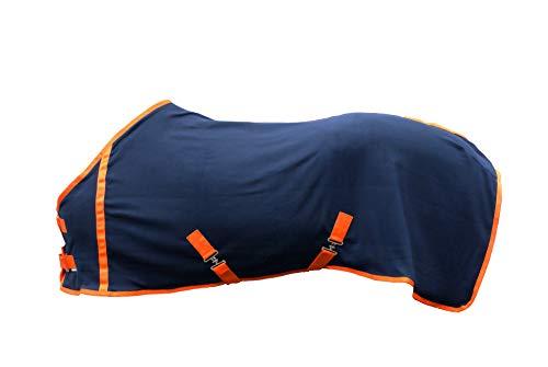 EJP Pferdedecke, Abschwitzdecke, Fleecedecke. Grösse für 125 cm. In 3 Farben erhältlich. (Dunkelblau)
