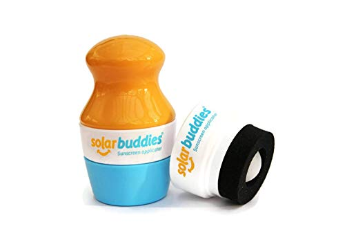 Solar Buddies Child Friendly Sunscreen Applicators, and Lotion Dispenser (1 x Yellow + 1 Replacement Head)