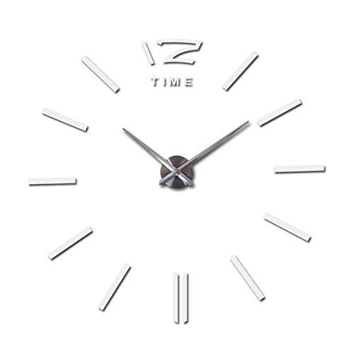 WWWL DIY Wanduhr Wanduhr Uhr Uhren 3D DIY Acryl Spiegel Aufkleber Wohnzimmer 27inch