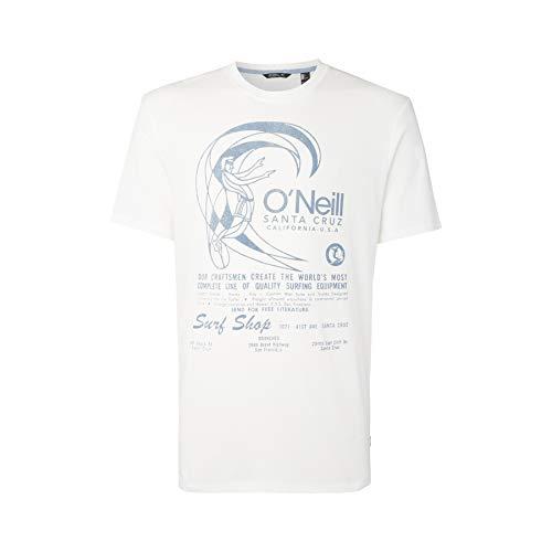 O'NEILL - T-Shirt da Uomo con Stampa Lm O'Riginals, Uomo, Tees, 0A2326, Colore: Bianco Polvere, XS