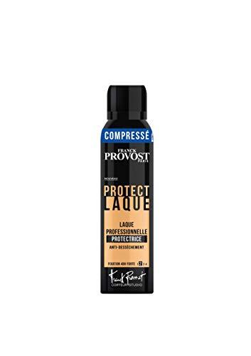 FRANCK PROVOST Coiffeur Studio Laque Professionnelle Protect Fixation 48H Forte Format Compressé 150 ml - Lot de 3