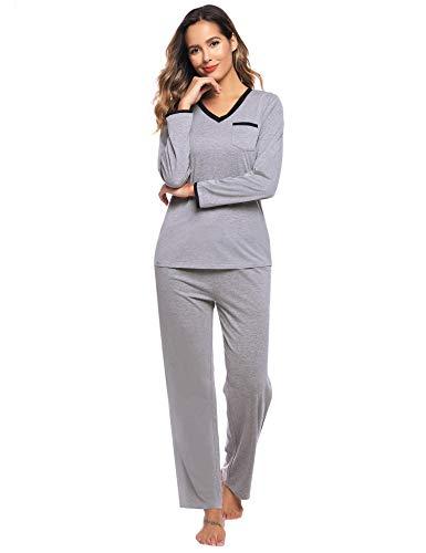 Sykooria tweedelige damespyjama katoenen voor dames Pyjama's met lange mouwen Vrouwen Thuis Kleding
