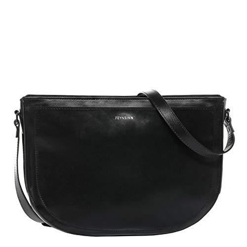 FEYNSINN Shoulder Bag Svea Medium Tote Bag Handbag Real Leather top-Handle Bag Leather Bag Women´s Bag Black