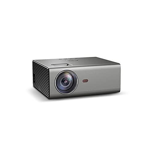 ZXNRTU Impresionante calidad de imagen Proyectores proyector de Bluetooth Mini proyector LED proyector HD 1280 * 720P Android 6.0OS 3800 lúmenes del proyector de película de cine en casa con WIFI Blue