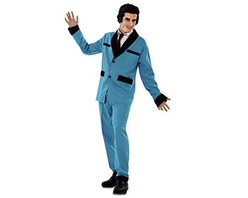 Desconocido My Other Me - Disfraz de Rockabilly, talla M-L, color azul (Viving Costumes MOM00525)