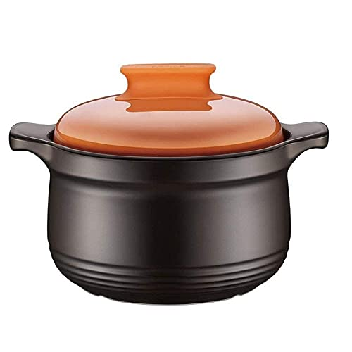 QIXIAOCYB Hierro fundido esmaltado holandés, horno de arcilla natural esmaltado, cacerola redonda, cacerola/cacerola para el hogar, olla para sopa, sopa, gas, cerámica
