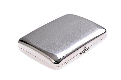 Quantum Abacus Zigarettenetui aus hochwertigem Stahl, im Stil der 20er Jahre, für 16 Zigaretten, Mod. KC3-01 (DE)