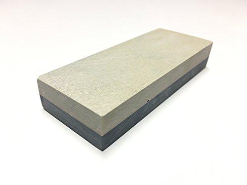 GELBER BELGISCHER BROCKEN original I Schleifstein für Messer & Werkzeug I Wetzstein für extra feinen Schliff - effektiv & höchst präzise I Messer-Schärfer Größe 100 x 40 mm Körnung bis 8000