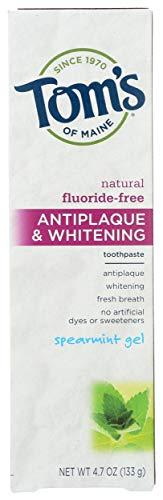 Toms Spearmint Gel Fluoride Free Toothpaste