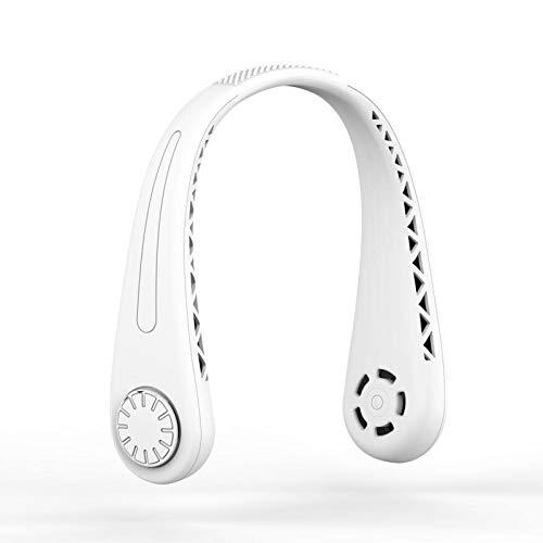 Betos Ventilador de cuello manos libres, sin aspas con rotación de 360 ° recargable por USB 3 velocidades de viento para el hogar, la oficina, los viajes y el exterior