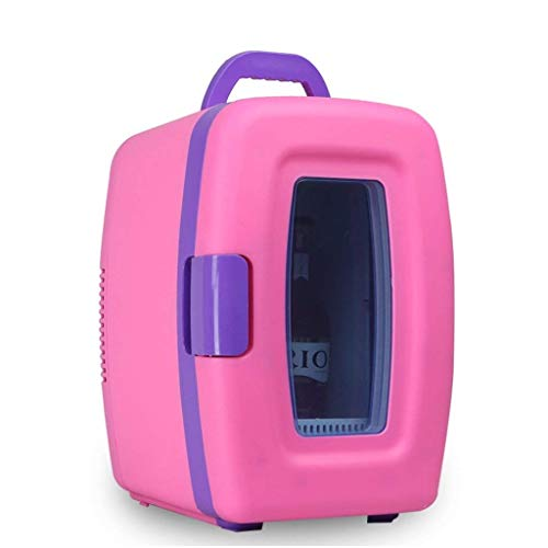 WYFMD Mini-Kühlschrank, tragbare Gefriertruhe Auto Kühlschrank, Auto nach Hause 10L Camping heiß und kalt Dual-Use-Mini-Kühlschrank für Autos nach Hause Camping,Pink