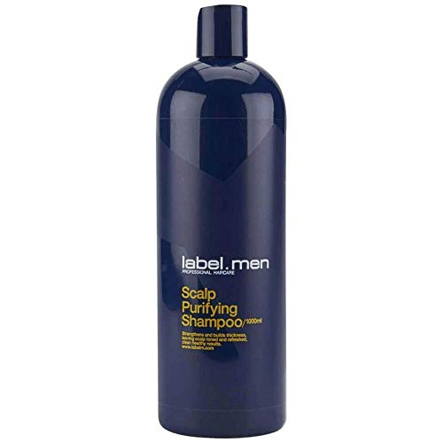 Label.M Mens Scalp Purifying Shampoo (Strengthens and Builds Thickness, Leaving Scalp Toned and Refreshed, Clean Healthy Results) 1000ml