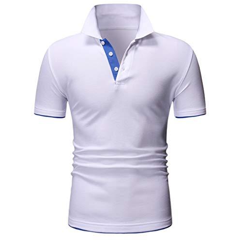 UINGKID Herren T-Shirt, Kurzarm Top Shirt Schlafanzugoberteil Mode Brief Druck Shirt Casual Bluse s