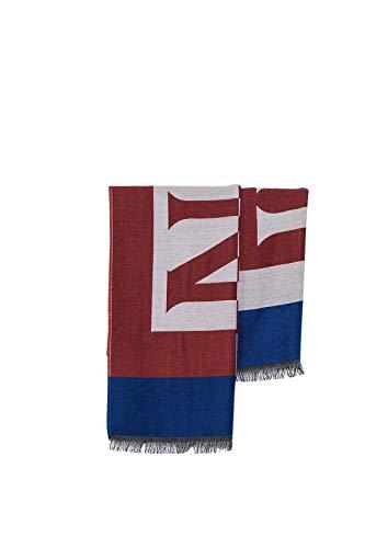 NAPIJRI heren wollen sjaal met Maxi-logo in wit en rood