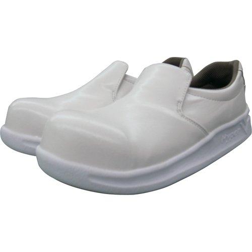 [日進ゴム] 作業靴 ハイパーV #5100 耐油 防滑 軽量 先芯入り メンズ ホワイト 24.5