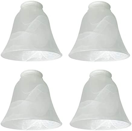 4 Pack Ceiling Fan Light Covers Transitional Style Replacement Bell Shaped Glass Shade Ceiling product image
