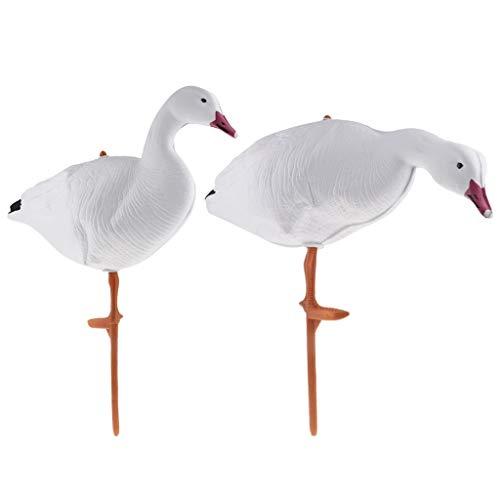 XBD-YOUER, 2pcs Full Body Goose Caccia Decoys Oca del Cigno Decoys Yard Decor Uccello scarer Accessori Caccia Greenhand Gear