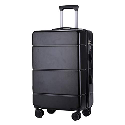 Men Women Suitcases, New Lightweight Suitcases, PC Universal Wheel Trolley Suitcases, TSA Code Locks Scratch Resistant Wear Resistant(Size: 24 inch,Color:black)