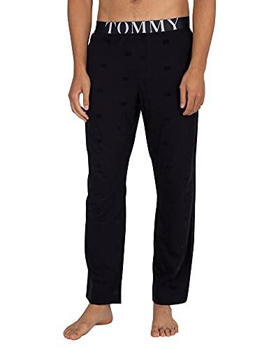 Tommy Hilfiger de los Hombres Pantalones de Pijama de Jersey, Azul, L