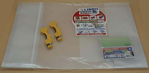 Office Box Lote 10 Forros Express Ajustables Transparentes para Libros 31 cms + 2 Estuches Minas Oso