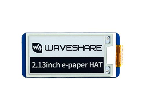 Waveshare 2.13 Inch e-Paper Display HAT V2 250x122 Resolution E-Ink Screen Electronic Paper Module with Embedded Controller Partial Refresh for Raspberry Pi/Jetson Nano/Arduino,Support SPI Interface