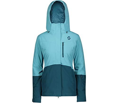 Scott W Ultimate Dryo 10 Jacket Colorblock-Blau, Damen Regenjacke, Größe L - Farbe Bright Blue - Majolica Blue