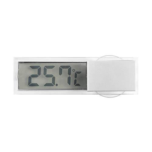 Lorenlli Digitales LCD-Display Auto Windschutzscheibe Temperaturmesser Saugfahrzeug Thermometer Auto Rückspiegel Thermometer
