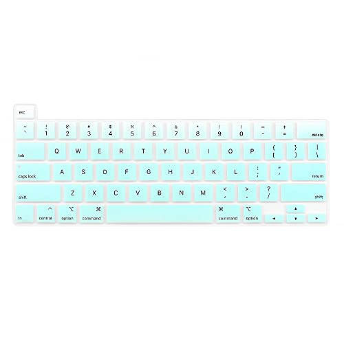ProElife Keyboard Cover Skin for 2021 2020 MacBook Pro 13'' with Apple M1 Chip and Intel Processor (Model A2338/A2289/A2251) and 2019 MacBook Pro 16'' (A2141) U.S Layout Accessories (Ombre Mint)