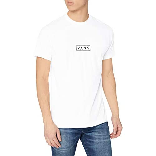 Vans Easy Box SS T-Shirt, Bianco-Nero, M Uomo