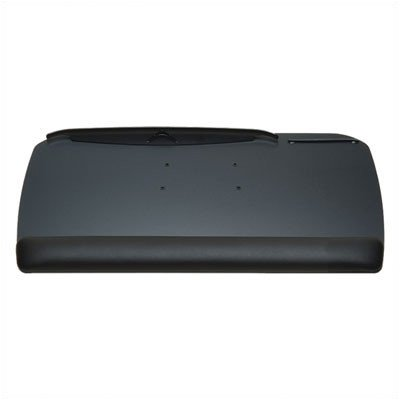 """WorkRite CB-185-25 Classic Black 27"""" KeyBoard Tray w/ Foam Wrist Rest (Arm Not Included, Tray Only)"""