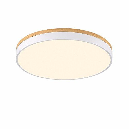 Ultra Mince 5 cm LED Plafonnier Rond En Bois Massif Style Nordique Plafonnier Lampes de Plafond Simple Moderne Salon Chambre Éclairage