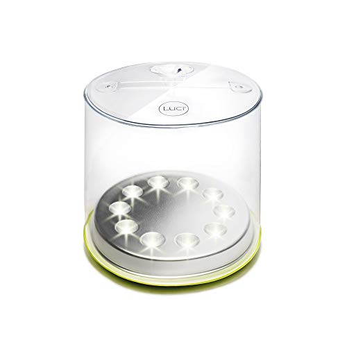 MPOWERD Luci Pro Outdoor 2.0: Solar Inflatable Lantern + Phone Charger with 150 Lumens, Lasts up to 50 Hours, All-in-One Lantern with Built-In USB Port, Waterproof, Compact, Lightweight